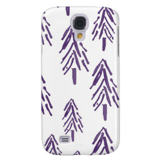 Evergreen Trees in Purple Galaxy S4 Cover