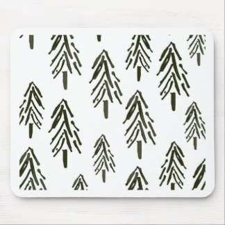 Evergreen trees mousepads