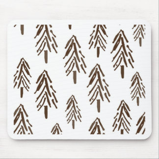 Evergreen trees mouse pad