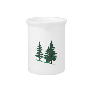 Evergreen Trees Drink Pitcher