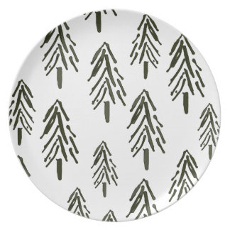 Evergreen trees party plates