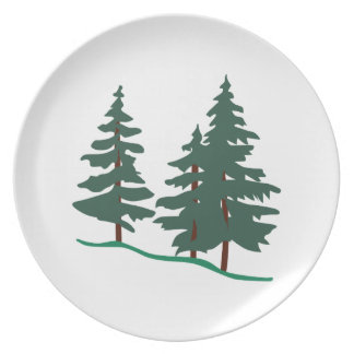 Evergreen Trees Plates
