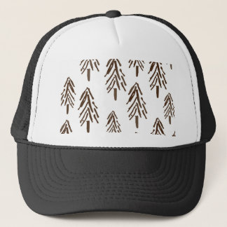 Evergreen trees trucker hat