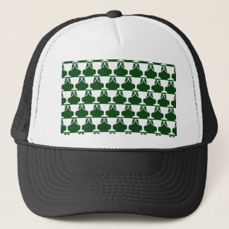 Evergreen Victorian Lace Trucker Hat