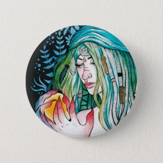Evergreen - Watercolor Portrait Button