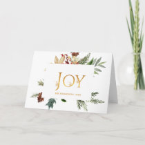 Evergreen - Wintertide Woodland Christmas Photo Card