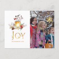 Evergreen - Wintertide Woodland Christmas Photo Holiday Postcard