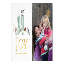 Evergreen - Wintertide Woodland Christmas Photo Magnetic Invitation