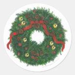 Evergreen Wreath Sticker