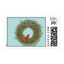EVERGREENWREATH with Cardinal Postage