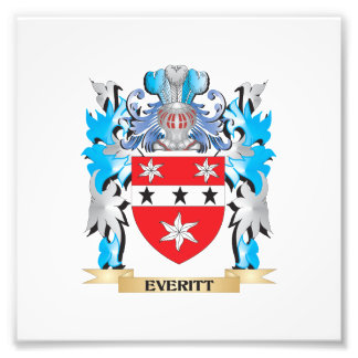 Everitt Coat of Arms - Family Crest Photo Art