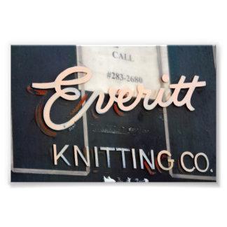 Everitt Knitting Company Sign, Milwaukee, WI Photograph