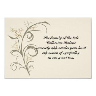 Everlasting - Bereavement Thank You Notecard Invite