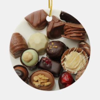 Everlasting chocolates ceramic ornament