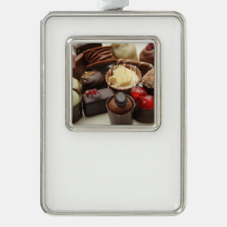 Everlasting chocolates silver plated framed ornament
