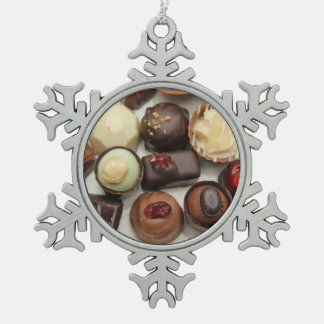 Everlasting chocolates snowflake pewter christmas ornament