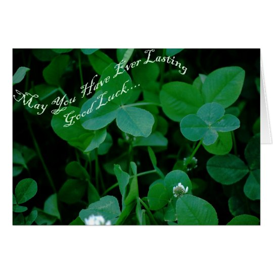 Everlasting Good Luck - Four Leaf Clover Products Card