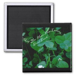 Everlasting Good Luck - Four Leaf Clover Products Fridge Magnets