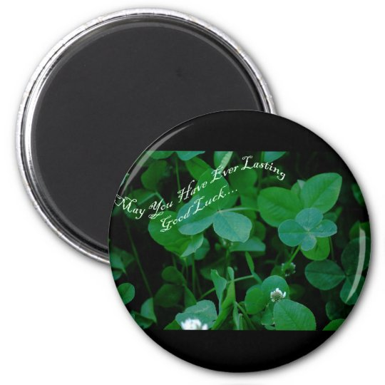 Everlasting Good Luck - Four Leaf Clover Products Magnet