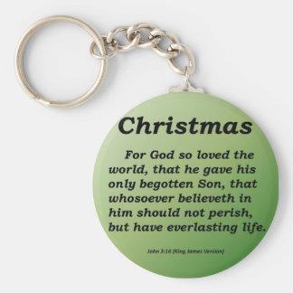 Everlasting Life Christmas John 3-16 Keychain