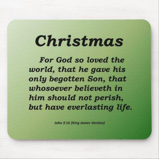 Everlasting Life Christmas John 3-16 Mouse Pads
