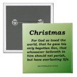 Everlasting Life Christmas John 3-16 Pins