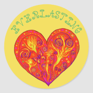 Everlasting Love Classic Round Sticker