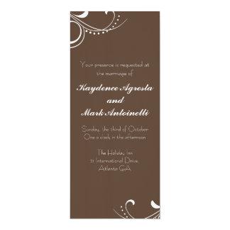 Everlasting Love Custom Wedding Invitation (brown)
