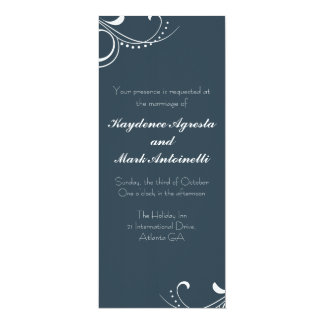Everlasting Love Custom Wedding Invitation (navy)
