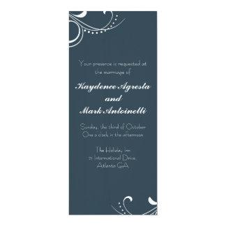 Everlasting Love Custom Wedding Invitation (navy)