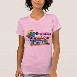 Everlasting Love Just Married Heart Balloons T Shirt