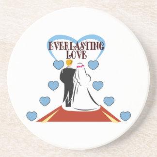 Everlasting Love Wedding Drink Coaster