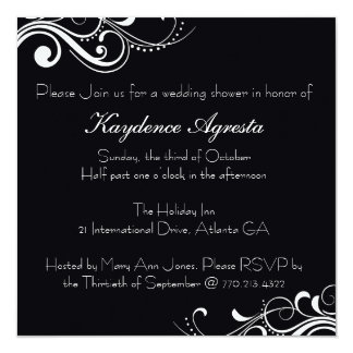 Everlasting Love Wedding Shower Invitation