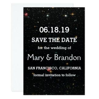 Everlasting Star Universe Nebula Wedding Card