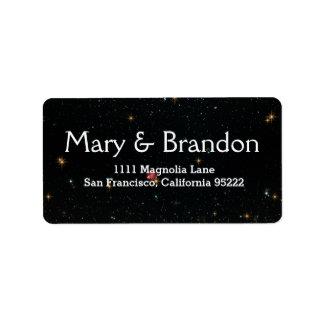 Everlasting Star Universe Nebula Wedding Label