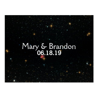 Everlasting Star Universe Nebula Wedding Postcard