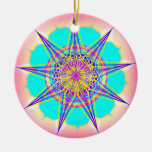 EverlastingMelody9 Double-Sided Ceramic Round Christmas Ornament