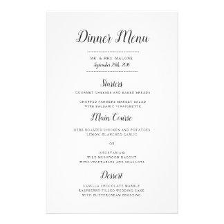 Everly Wedding Dinner Menu