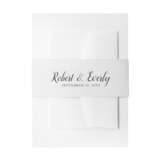 Everly Wedding Invitation Belly Band