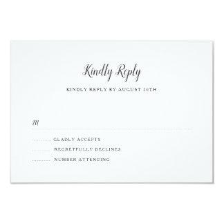 Everly Wedding RSVP Card