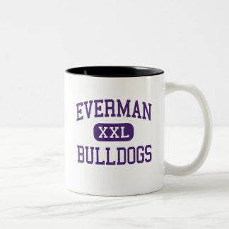 Everman - Bulldogs - Junior - Fort Worth Texas Two-Tone Coffee Mug