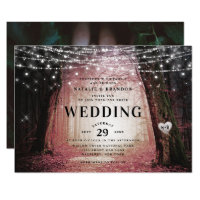 Evermore | Enchanted Fairy Forest | Pink Wedding Invitation