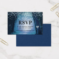 Evermore | Enchanted Forest Blue RSVP Insert Cards