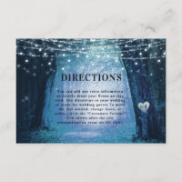 Evermore | Enchanted Forest Wedding Directions Enclosure Card