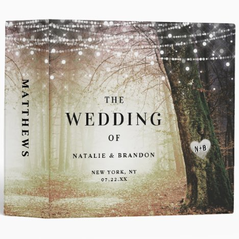 Evermore | Enchanted Forest Wedding Photo Album 3 Ring Binder