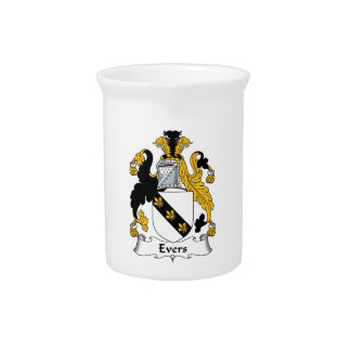 Evers Family Crest Beverage Pitcher
