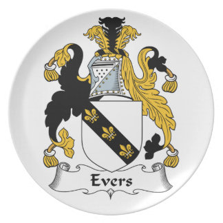 Evers Family Crest Plates