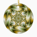 Everswirl - Mandelbrot Fractal Ceramic Ornament