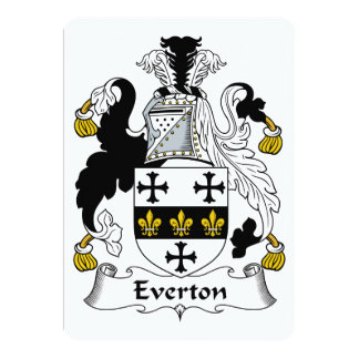 Everton Family Crest Card