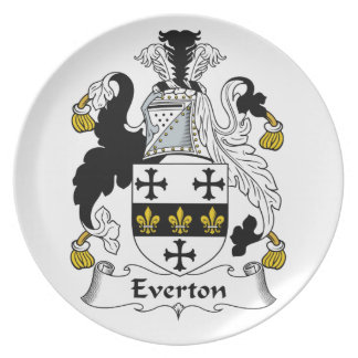 Everton Family Crest Dinner Plate